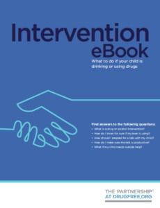 drug intervention guide book for parents