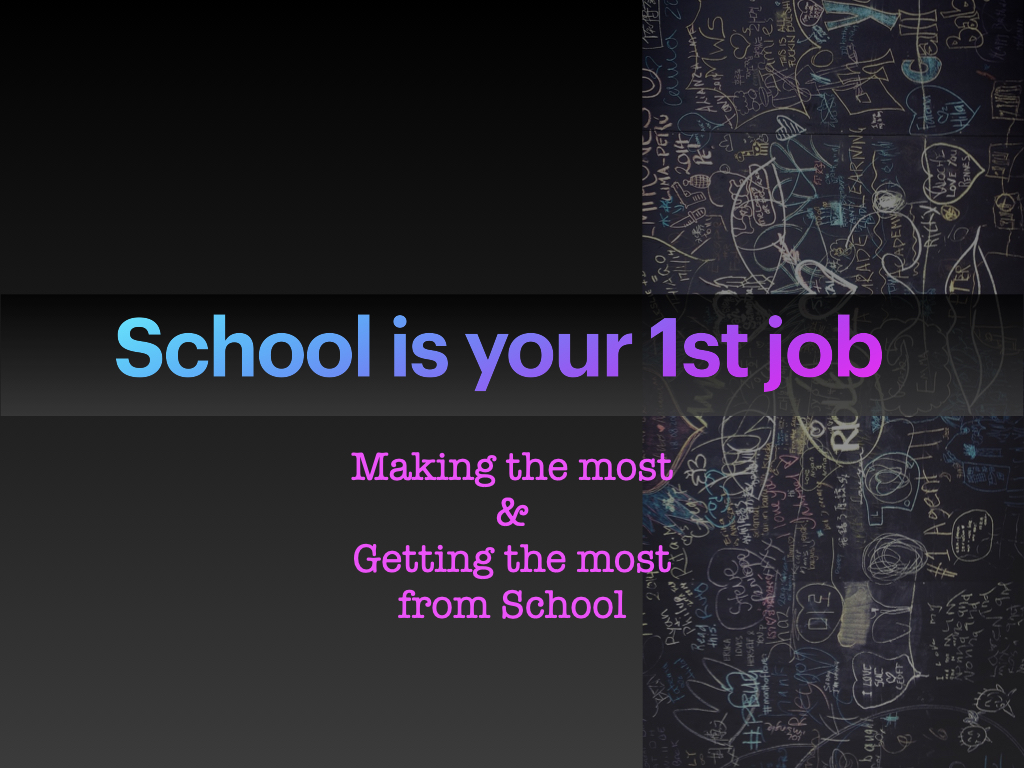 Presentation on making school work for you